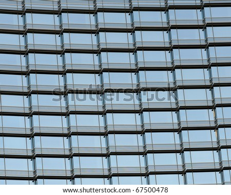Patterns of a modern office building exterior