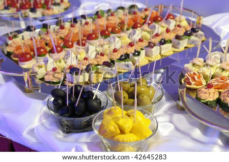 Patty-pan, Olives and  light snacks. - stock photo