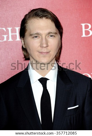 Paul Dano at the 27th Annual Palm Springs International Film Festival Awards Gala held at the Palm Springs Convention Center in Palm Springs, USA on January 2, 2016. - stock photo