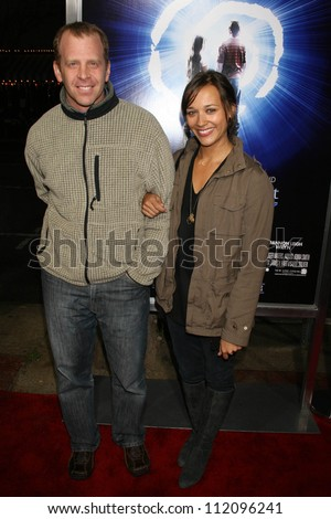 "Paul Lieberstein and Rashida Jones at the Los Angeles Premiere of ""The Last Mimzy"". Mann Village Theatre, Westwood, CA. 03-30-07 - stock photo"