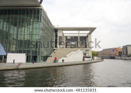 Paul Loebe Haus at German Bundestag in Berlin - BERLIN / GERMANY - AUGUST 31, 2016