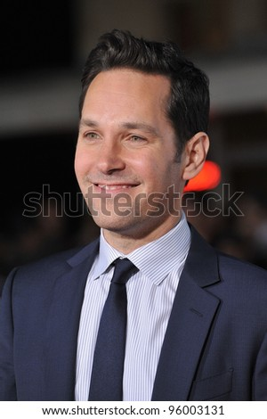 "Paul Rudd at the world premiere of his new movie ""Wanderlust"" at the Mann Village Theatre, Westwood.  February 16, 2012  Los Angeles, CA Picture: Paul Smith / Featureflash"