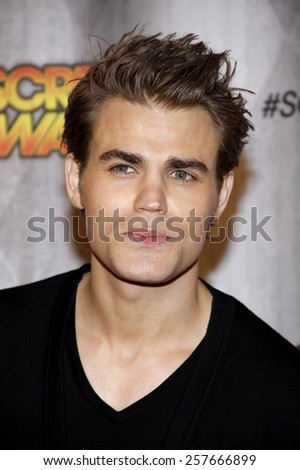 Paul Wesley at the Spike TV's 'SCREAM 2011' awards held at Universal Studios in Universal City, California on October 15, 2011. - stock photo