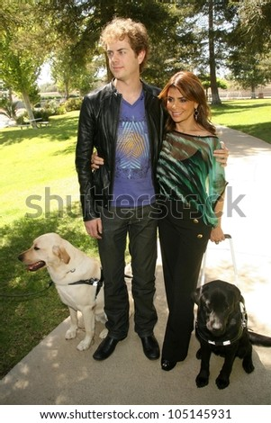 Paula Abdul and Scott Macintrye  at the Kick Off for National Guide Dog Month. Guide Dogs of America, Sylmar, CA. 05-08-09