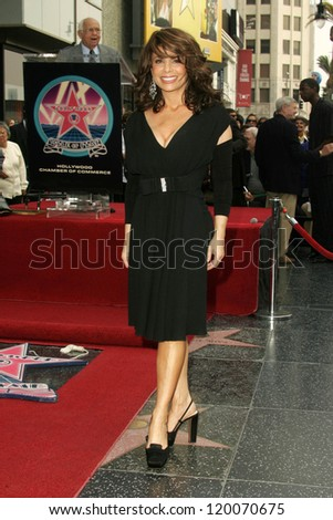 Paula Abdul at the Ceremony Honoring Los Angeles Lakers Owner Jerry Buss with the 2,323rd star on the Hollywood Walk of Fame. Hollywood Boulevard, Hollywood, CA. 10-30-06 - stock photo