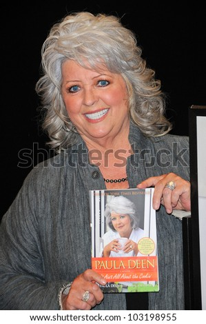 Paula Dean at a personal appearance, Barens & Noble, Glendale, CA.  11-11-09 - stock photo