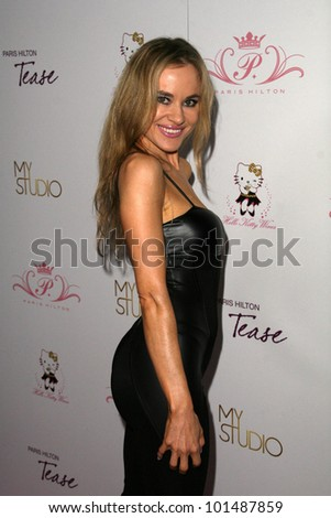 "Paula Labaredas at Paris Hilton's ""Tease"" Fragrance Launch, MyStudio, Hollywood, CA. 09-10-10"