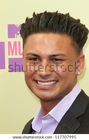 Pauly D at the 2012 Video Music Awards Arrivals, Staples Center, Los Angeles, CA 09-06-12 - stock photo