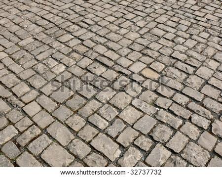 pave stones - stock photo
