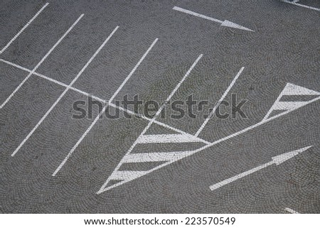 Paved parking - stock photo