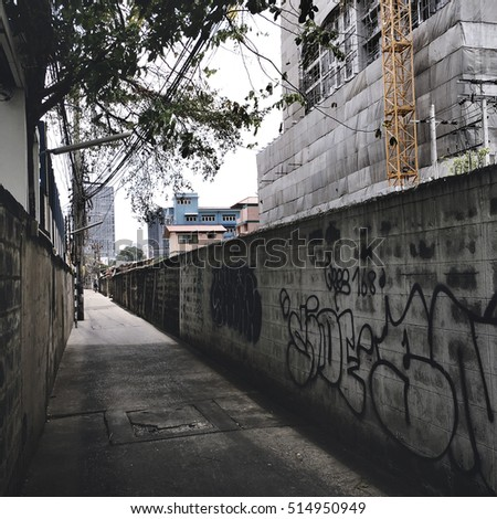 Pavement Abstract Brick Graffiti Mural Street Style Concept