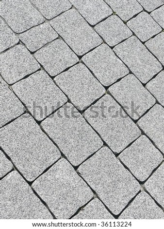 Pavement blocks closeup. More of this motif & more pavements in my port. - stock photo
