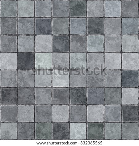 Pavement  Cobblestones seamless texture background - stock photo
