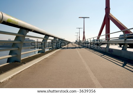 Pavement of a modern bridge - stock photo