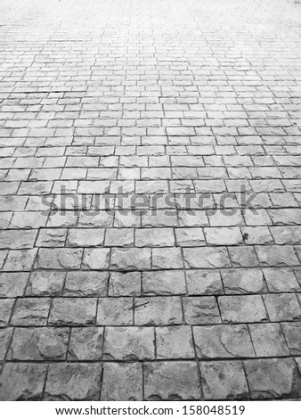 Pavement surface with light gray stone - stock photo