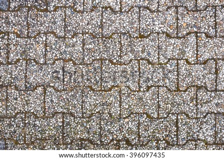 paver blocks footpath textured background - stock photo