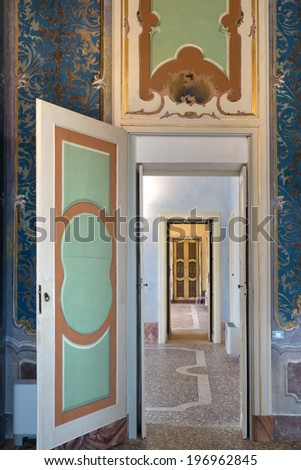 PAVIA, PV, ITALY - MARCH 23: Giornate FAI di Primavera - Spring days FAI - Open doors at Bellisomi Vistarino Palace  march 23, 2014 in Pavia, PV, Italy. - stock photo