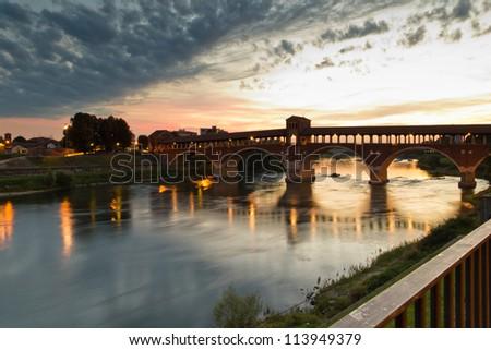 Pavia - Sunset - stock photo