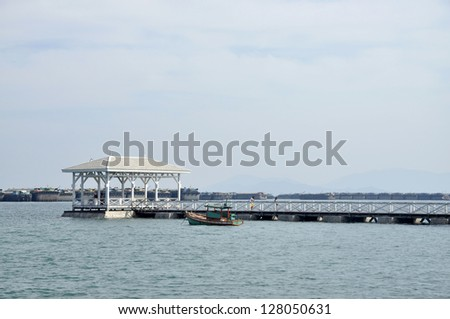 Pavilion Day Outdoor Nature Sea Wood - stock photo