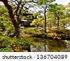 pavilion of the famous Ginkakuji temple, Kyoto, Japan - stock photo