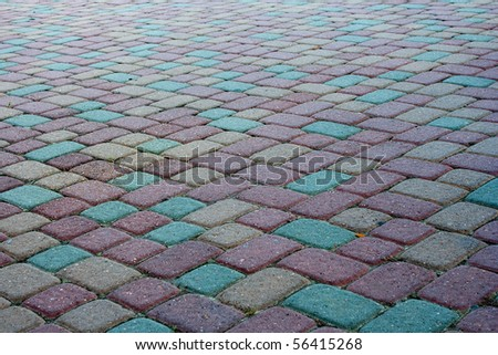paving stones - stock photo