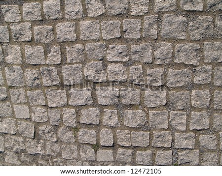 Paving stones from granite which can be used as texture or as a background - stock photo
