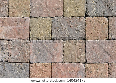 Paving stones pattern, background - stock photo