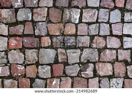 Paving stones street texture - stock photo