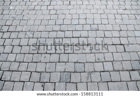 paving with cobblestones in St. Peter's square at the Vatican - stock photo
