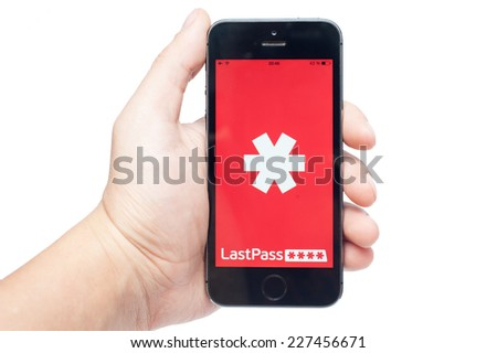 Pavlograd, Ukraine - October 31, 2014: LastPass is password manager that saves your passwords and gives you secure access to them from every computer and mobile device. - stock photo