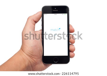 Pavlograd, Ukraine- October 25, 2014: Match is the dating app. Match is responsible for more dates, relationships and marriages. - stock photo