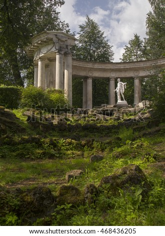 Pavlovsk Park Apollo Colonnade pavilion in Saint-Petersburg Russia