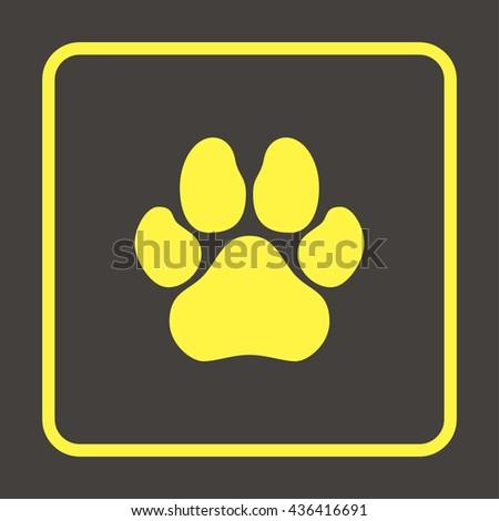 Paw, web icon. - stock photo
