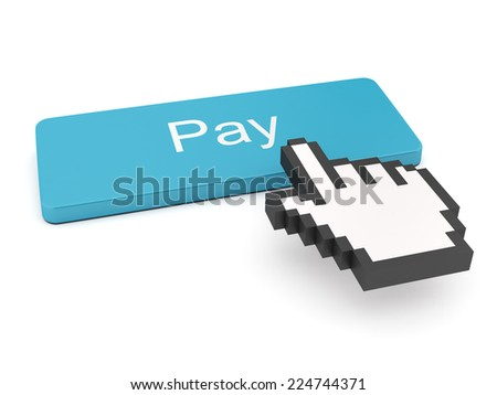 Pay Button on Keyboard  - stock photo