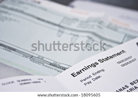 pay checks and earnings statement