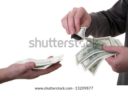 pay dollars isolated - stock photo