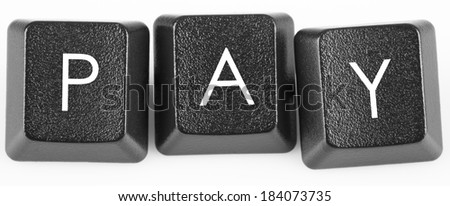 Pay keyboard key. Online payment concept - stock photo