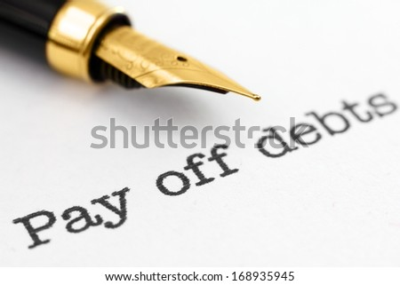 Pay off debts - stock photo