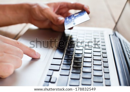 pay online - stock photo