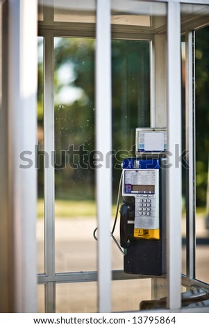 Pay Phone Booth - stock photo
