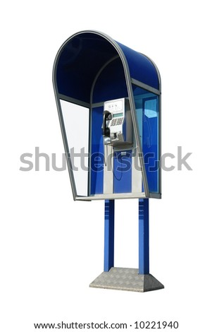 Pay phone box isolated on white background - stock photo