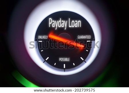 Payday Loan concept displayed on a gauge - stock photo