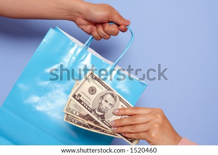 Paying after shopping