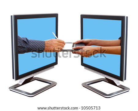 Paying for your goods on the internet - stock photo