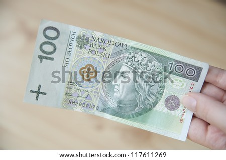Paying in Poland - stock photo