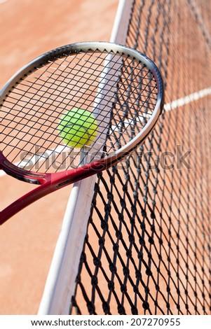 paying tennis - stock photo