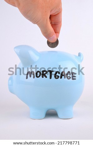 Paying The Mortgage - stock photo