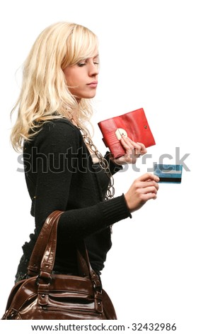 Paying with credit card - stock photo