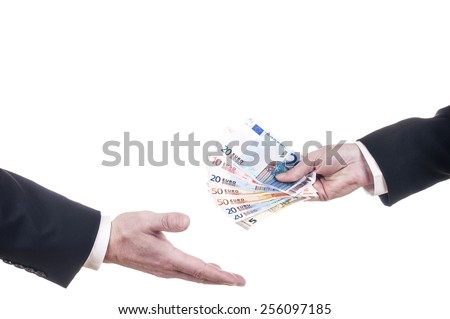 payment, cash  - stock photo