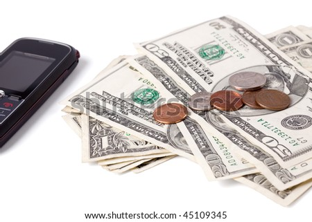 payment for cellphone - stock photo